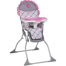 Baby Simple Fold Plus High Chair, Minnie Dot Fun Infant Adju