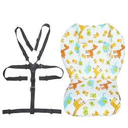 Baby Stroller/High Chair Seat Cushion Pad Cover and Straps 1