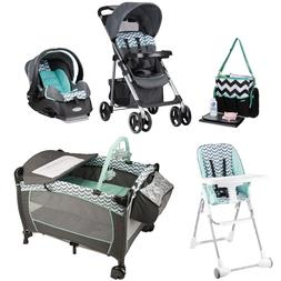 Baby Stroller with Infant Car Seat High Chair Playard Diaper