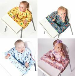 BIBaDO Baby Weaning Bib Feeding Coverall Straps To Any Highc