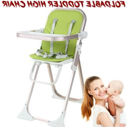 Baby Wooden High Chair Adjustable Kids Feeding Chair Dining