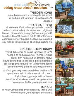 Greendale Home Fashions Outdoor High Back Chair Cushion, Alo