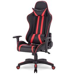 Apontus High Back Reclining Racing Gaming Chair - Red