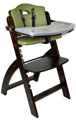 Abiie Beyond Wooden High Chair w/ Tray Adjustable Baby Highc