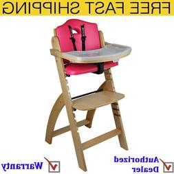Abiie Beyond Wooden High Chair With Tray Perfect Adjustable