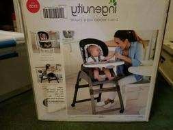 Brand New in Box Ingenuity Trio 3-in-1 Wood High Chair - Ell