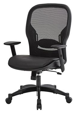 Space Seating Breathable Mesh Black Back and Padded Eco Leat