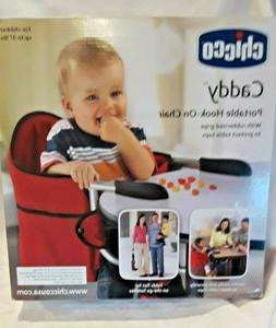 Chicco Caddy Portable Hook On Chair Red Rubberized Grips New