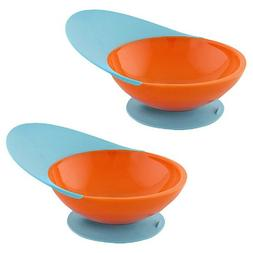 Boon Catch Bowl with Spill Catcher - 2 Pack, Blue Raspberry