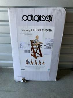 Baby High Chair with Tray Mahogany Keekaroo Height Right Adj
