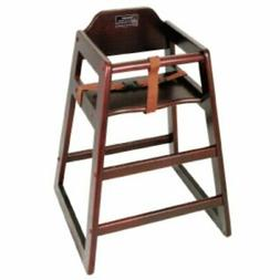 Winco CHH-103 Unassembled Wooden High Chair, Mahogany, Set o