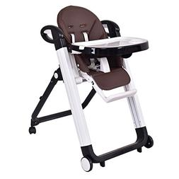 Costzon Baby High Chair, Folding Infant Feeding Booster with