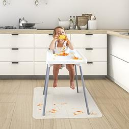 Chair Mat for Baby High Chair | Opaque Child Floor, Feeding