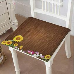Chair Pads Square Cotton Chair Cushion Antique Old Planks Am