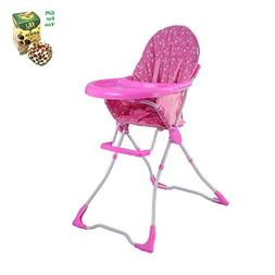Baby High Chair Infant Toddler Feeding Booster Seat - Pink