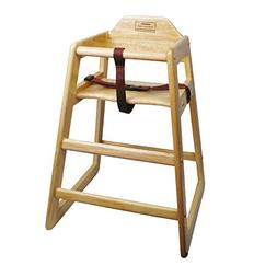 Winco CHH-101 Unassembled Wooden High Chair, Natural by Winc