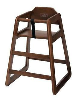 Winco CHH-104 Stacking High Chair - Walnut Finish