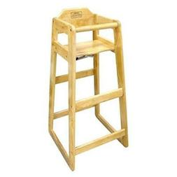 "Winco CHH-601 Wooden 19 x 20 x 41"" Pub Height High Chair"