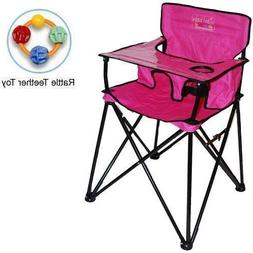 ciao baby - Portable High Chair with Rattle Teether Toy - Pi