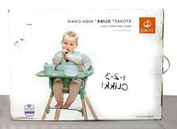 Stokke Clikk Lightweight High Chair w/ Tray & 5-Point Harnes
