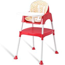 Costzon Convertible High Chair, 3 in 1 Table and Chair Set,