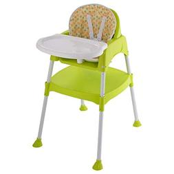 COSTWAY Convertible, 3 in 1 Table Set, Snacker High Chair Se