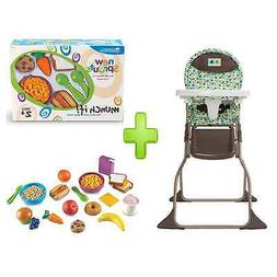 Cosco Fold High Chair, Elephant Squares with New Sprouts Mun