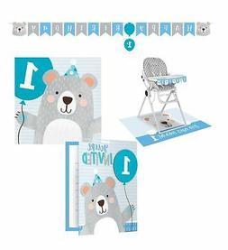 Creative Converting Beary Cute Boy 1st Birthday Bear Party B