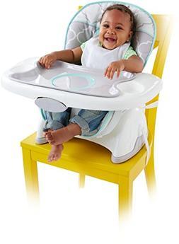 Fisher-Price Deluxe SpaceSaver High Chair, Safari Dreams Gre