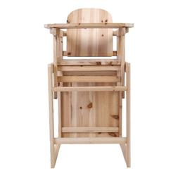 Detachable Wood Baby High Chair Infant Toddler Feeding Boost