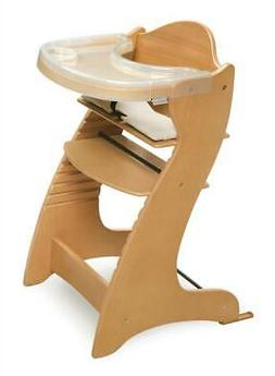 Embassy Wood High Chair in Natural with Tray