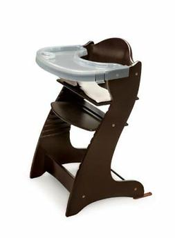 Embassy Wood High Chair with Tray - Espresso