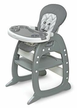 Badger Basket Envee II Baby High Chair with Play Table Conve