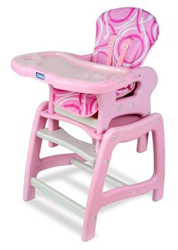 Envee Infant Baby High Chair with Convertible Play Table Pin