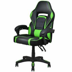 Executive Racing Style PU Leather Gaming Chair High Back Rec