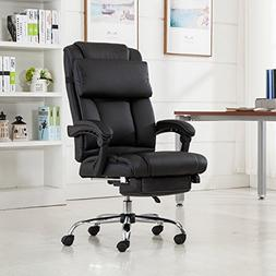 Executive Reclining Office Chair Ergonomic High Back Leather