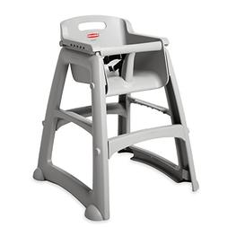 Rubbermaid FG781408PLAT Sturdy Chair High Chair without Whee