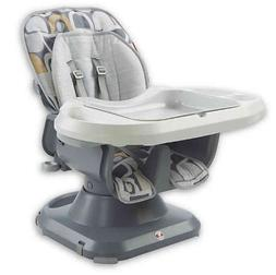 Fisher-Price Deluxe SpaceSaver Pebble High Chair in Grey