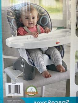 Fisher-Price DKR70 SpaceSaver High Chair, Geo Meadow