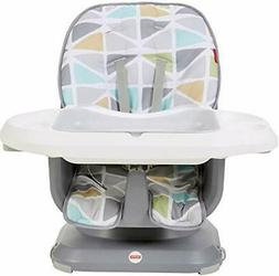 Fisher-Price SpaceSaver High Chair, Green/Grey Green/Grey