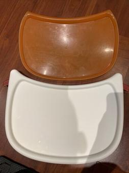 Boon Flair Baby high chair Seat Tray And Orange Liner Only