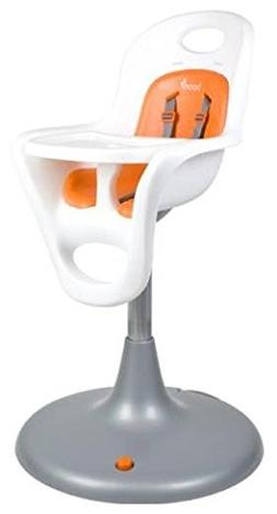 Boon Flair High Chair - White Chair + Orange Pad