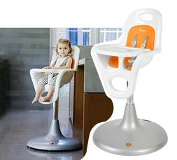 Boon Flair Pedestal Highchair with Pneumatic Lift - White/Or
