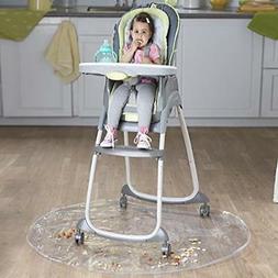 Nuby Floor Mat, Plastic, High Chair Floor Protector, Clear,