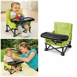 Folding Baby High Chair Portable Camping Infant Toddler Trav