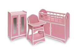 Badger Basket Folding Doll Furniture Set with Storage Crib,