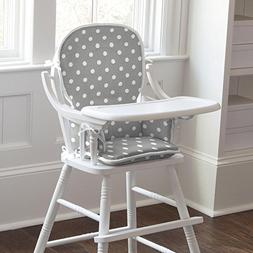 Carousel Designs Gray and White Dots and Stripes High Chair