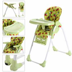 Green Toddler Feeding Booster Folding Seat Adjustable Baby H