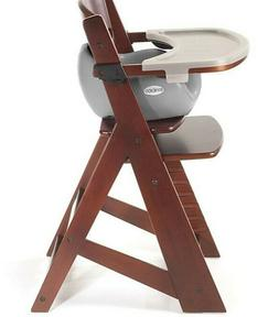 Keekaroo® Height Right High Chair Mahogany with Infant Inse