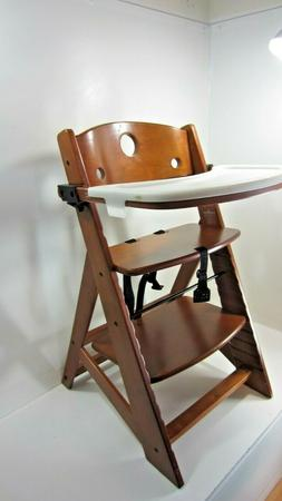 Keekaroo® Height Right™ High Chair with Tray in Mahogany
